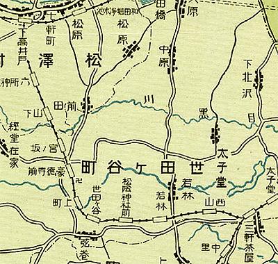 世田谷線大正14年図