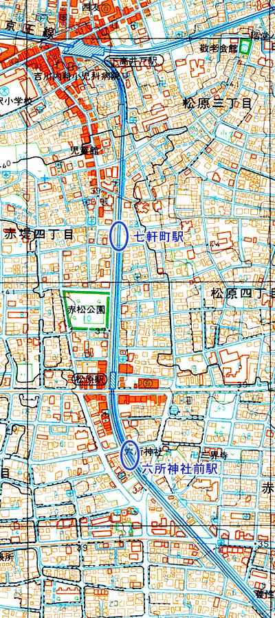 世田谷線地図2